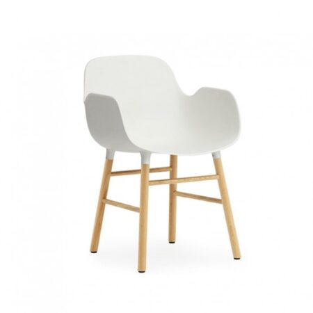 Form Armchair White