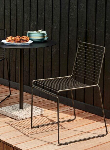 Hee Dining Chair black_Terrazzo Table grey terrazzo_Soft Ice oval dish blue_Rainbow Plate (3)