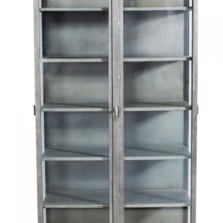 Iron glass cabinet