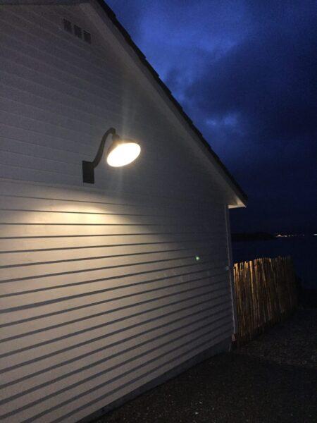 Ute lys vegg