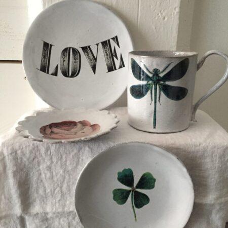 Astier keramikk med John Derian motiv