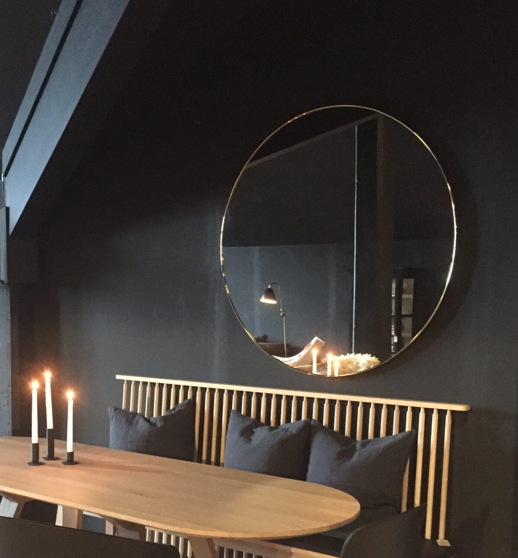 gubi circular speil 110cm kr 12 155 olen mobel. Black Bedroom Furniture Sets. Home Design Ideas
