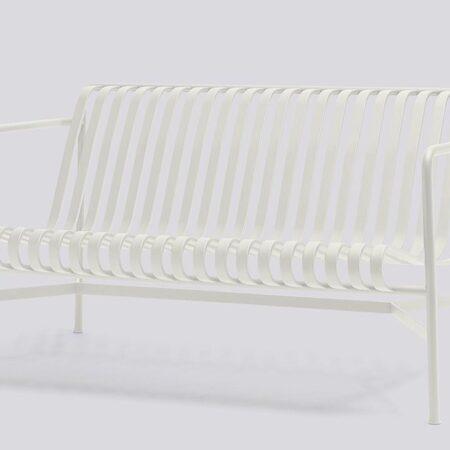 Palissade lounge benk hvit