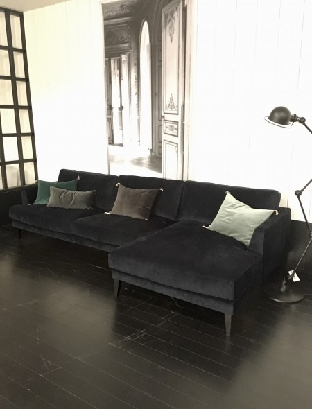 Jazz sofa blå velur