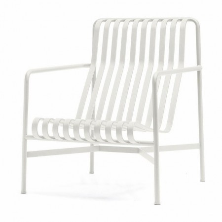 Palissade lounge chair high white