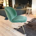 Gubi Beetle lounge chair - brass