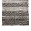 Tine Khome Carpet with hand woven pattern in herringbone and stripes