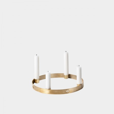 Fermliving CAndel holder circle Brass
