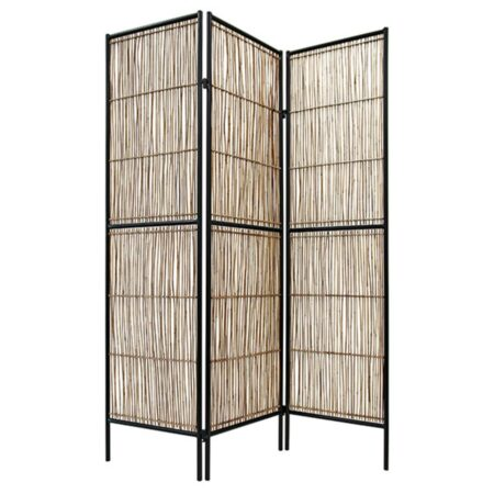 Folding Screen Metal rattan 139x180