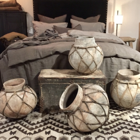 Vintage sugar cane jars