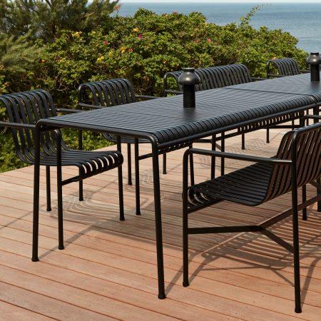 Palissade Table anthracite bilde med sjø