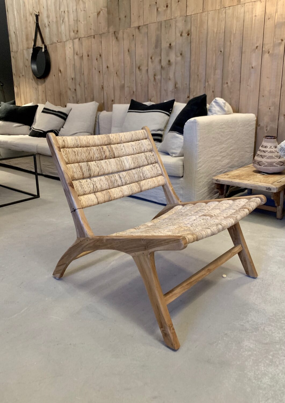 Abaca lounge chair teak Olen Mobel