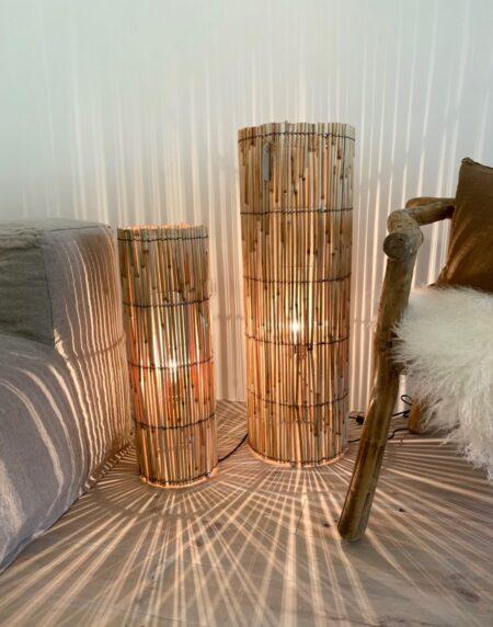 Round palme lampe